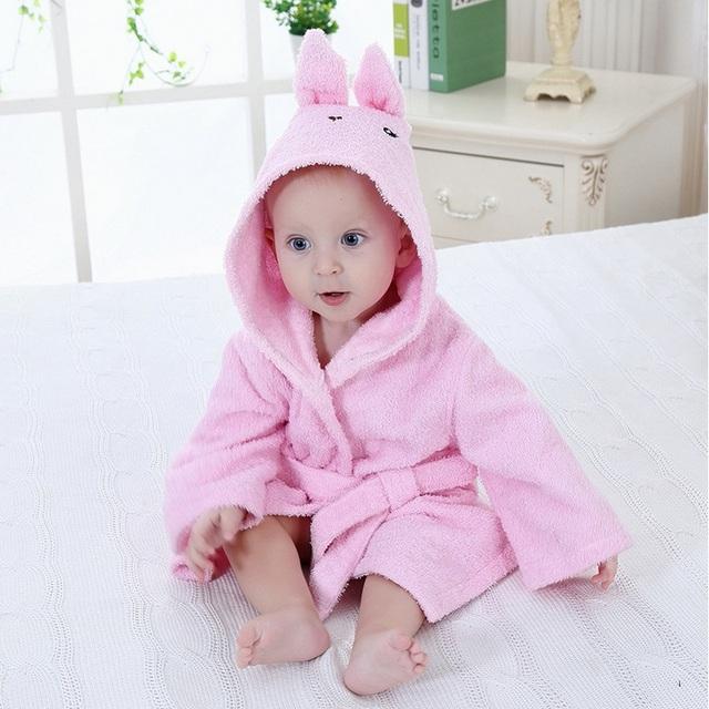 100% Algodão TOALHA de BANHO DO BEBÊ cobertor infantil banho toalhinha bebê recém-nascidos sleepwear macio animal dos desenhos animados forma de dormir robe