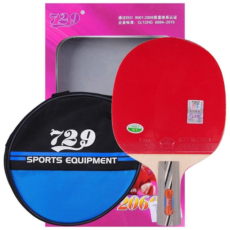 Jade Weiß Original 729 Freundschaft 2060 Tischtennis Schläger Fertigen Schläger Sport Pickel In Gummi Ping Pong Paddel Mit Geschenk tasche