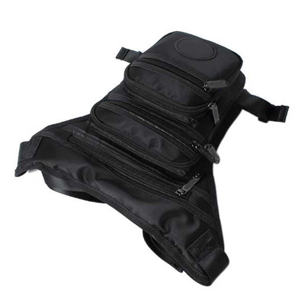 男性ファッション防水大容量腿パケットスポーツ二重層屋外弾力調整可能な多機能脚バッグ