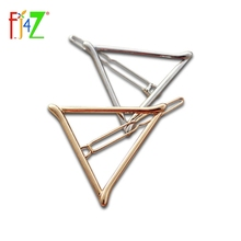 women s christmas gifts fashion golden silver Tone metal triangle hair clip jewelry for women accessories
