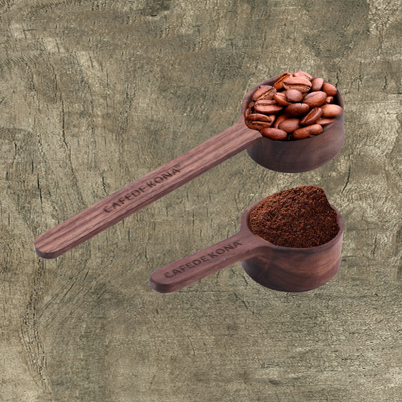 1pc Natural Walnut Coffee Scoop 8g/10g Short/long Handle Measuring Spoons Coffee Bean Powder For Barista
