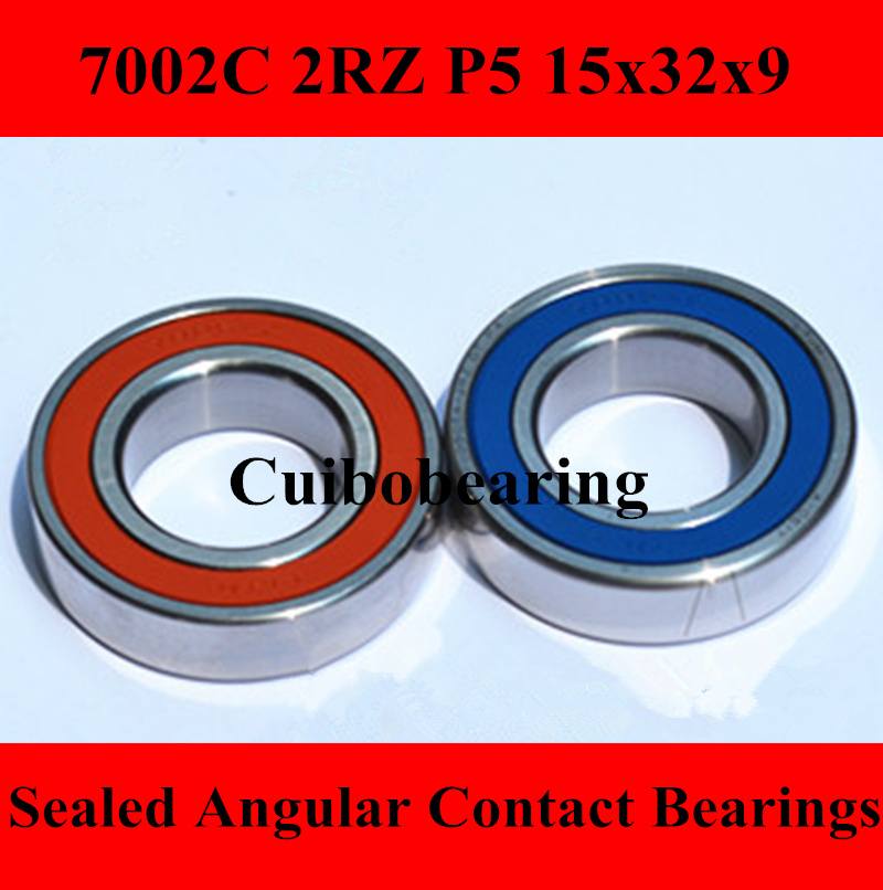 7002 AC/C  2RZ angular contact ball bearing 7002 2RS double seal for CNC router P5 ABEC5 1pcs 71822 71822cd p4 7822 110x140x16 mochu thin walled miniature angular contact bearings speed spindle bearings cnc abec 7