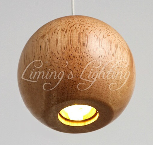 Solid Wood Modern Pendant Light Chinese Japanese Nordic Creative Minimalist Living Room Dining Wooden Ball Wooden Pendant Lamp creative european country wood chandeliers artistic for living room decoration modern minimalist style wooden e27 pendant lamp