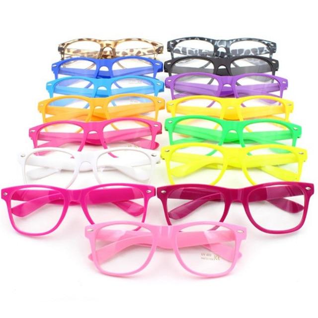 cfb2c34ab3 4 Colors Eyewear Frames Clear Lens Glasses Square Frame Unisex Men s  Women s Nerd Trendy