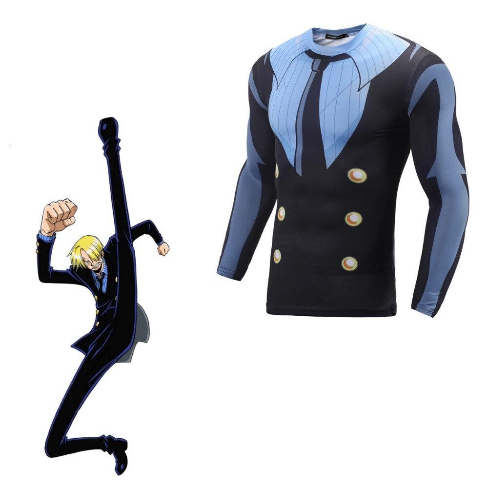 ONE PIEC Sanji 3D Print T Shirt Cosplay Costume Japanese