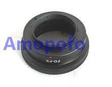 Amopofo,FD-FX Adapter for Canon FD Lens to Fuji X-mount XF XC  X-Pro1, X-E1, X-E2, X-M1, X-A, SR/X-600 Digicam FD-FX