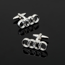 XK371 High quality men's brand logo shirt Cufflinks silver Audi Cufflinks lawyer business shirt accessories