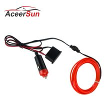 LED Mobil Styling Warna Merah 1 M 2 M 3 M 4 M 5 M Cahaya Ambient Fleksibel Neon Strip LED Mobil Lampu Interior Trim El Cahaya Dingin 5 V(China)