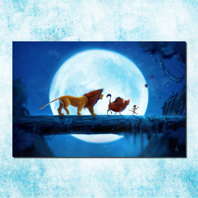 the lion king movie art silk canvas poster print 13x20 24x36 inch cartoon pictures for bedroom