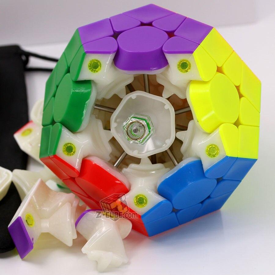 Cube magique puzzle GAN mega M megaminxeds magnétique gancube 12 faces cube dodecahedron professionnel megamin x vitesse cube jouets - 4