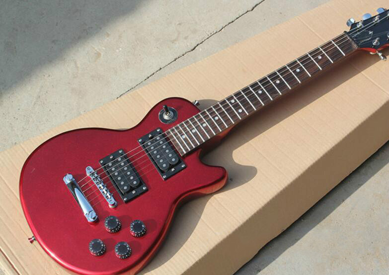 Guitar Shop For Cheap Top Quality Fdtl-2057 Metal Red Color Solid Basswood Body Rosewood Fretboard 6 Strings Electric Guitar Free Shipping Musical Instruments
