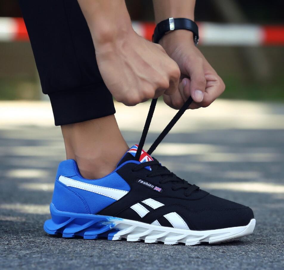 Black blue Hombres De Y 2019 Adulto Los Zapatillas Primavera Zapatos Red Hombre Blue Masculino Tenis Moda Otoño black Casuales Transpirable xRqqnUZ