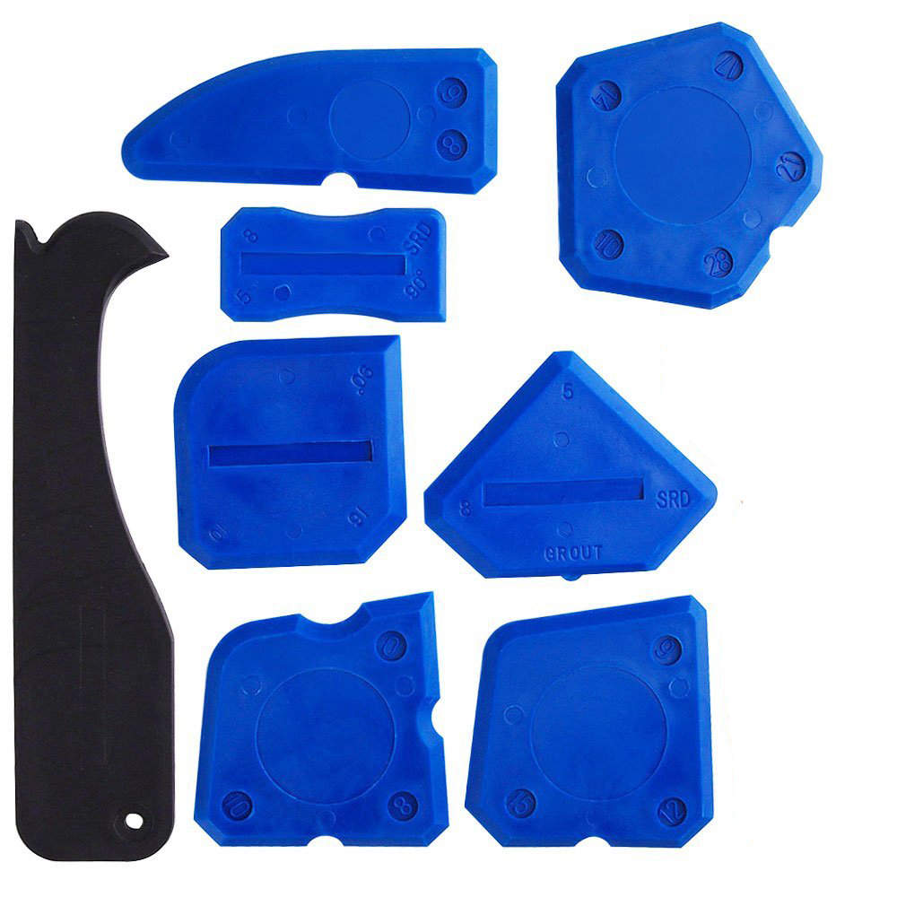 Free Shipping Professional Silicone Finishing Tool 8 Pieces Sealant Tools Caulking Kit Silicone Remover Sealing Tool