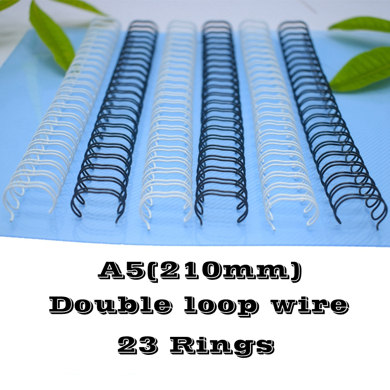 100PCS/BOX A5 Size 210mm 23 Rings 6.4-14.3mm Steel Iron Double Loop Wires Binding Wire Calendar Binding Wires