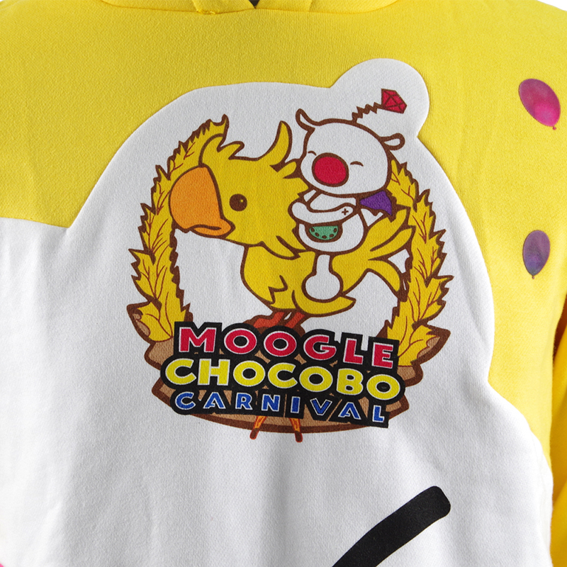US $34.79 13% OFF|Moogle Chocobo Hoodies Final Fantasy XV Noctis Choco Mog Coat Cosplay Costume Yellow Carnival Pullover Sweatshirt Christmas
