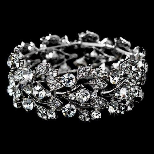 Hot Retro Steampunk 925 Silver Rhinestone Crystal Bracelets Hiphop Femme Hip Hop Braslets Bracelet Link Chain Cuban Bracelet