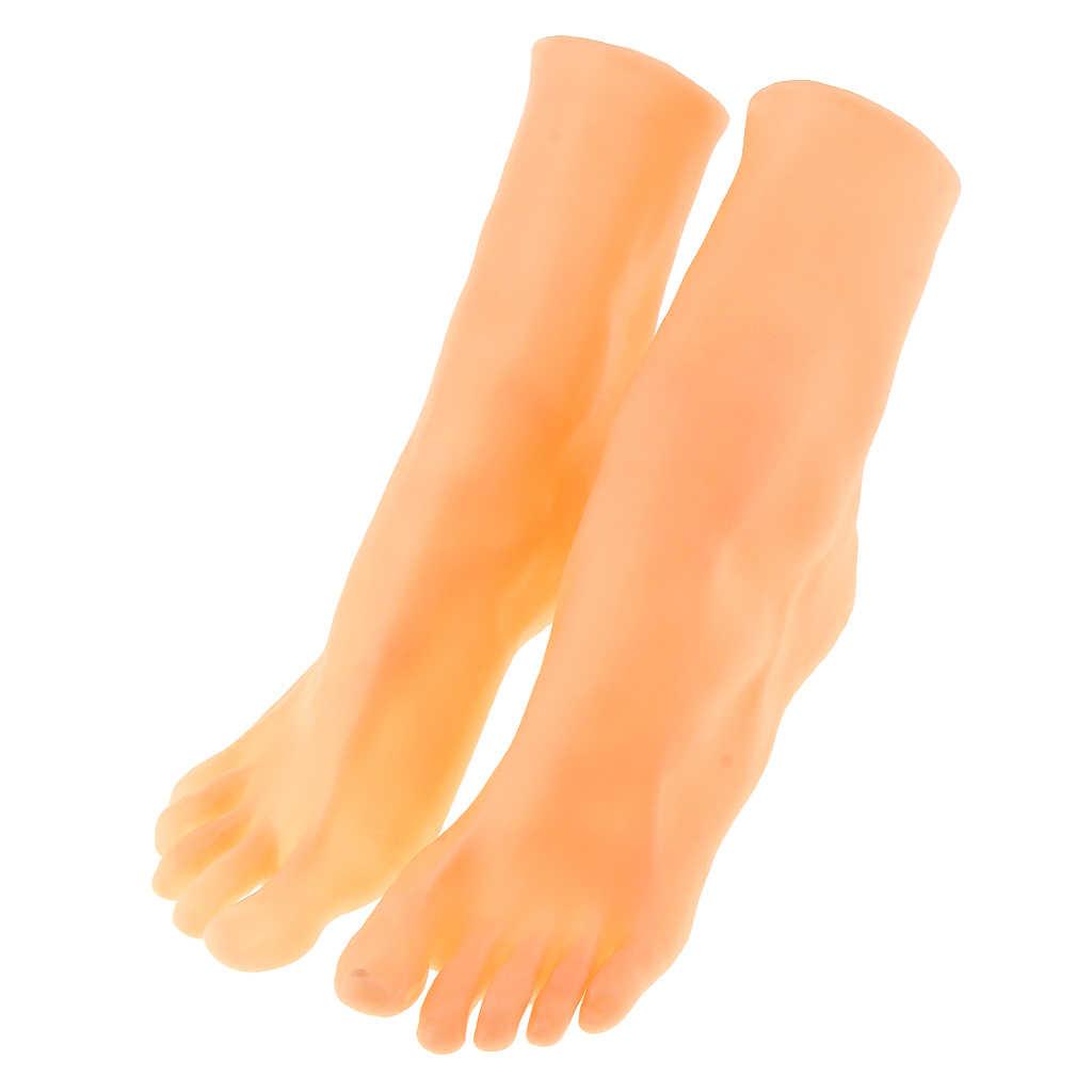 실리콘 Lifesize 여성 끈 스타일 마네킹 발 신발 Anckle 체인 표시 모델 아트 스케치 디스플레이 샌들 신발 양말