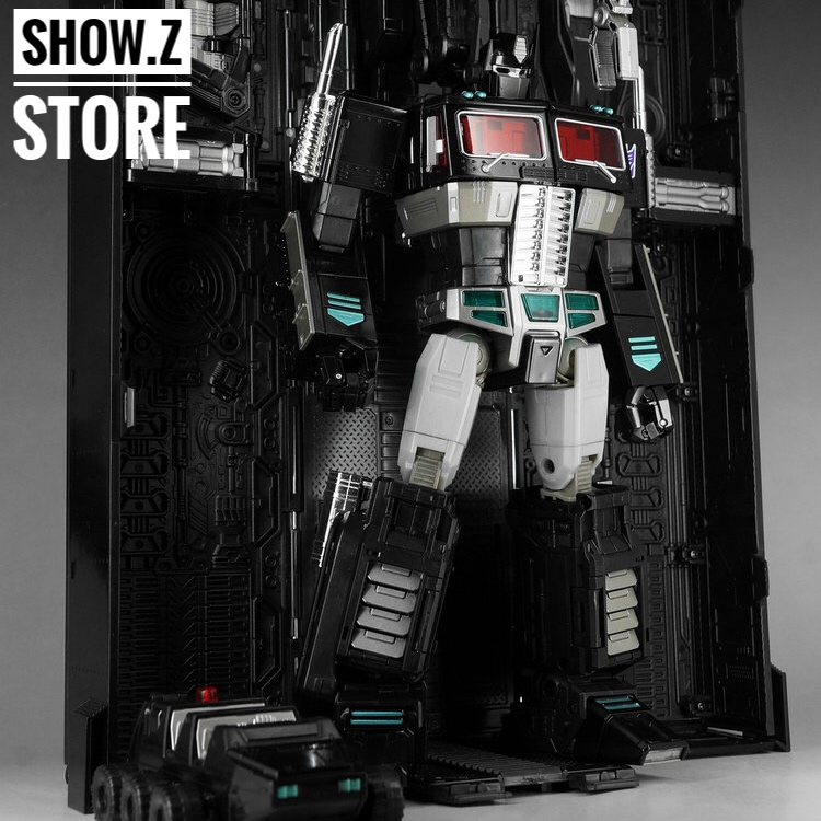 цена [Show.Z Store] 4th Party MP-10B OP Black Version Convoy Nemesis /w Trailer Transformation Figure онлайн в 2017 году