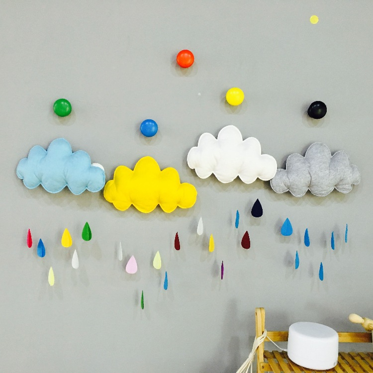 цены Christmas Cloud Raindrop Nordic Photography Tent Hang Room INS bed decoration Plush Stuffed Doll Baby Infant Toys Birthday Gift