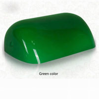 Green Glass Banker Lamp Shade Cover Cased Replacement Lampshade 9 X 5 1/4