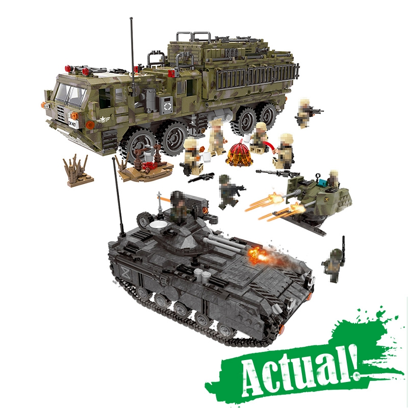 XingBao Heavy Truck Tank Military Figures SWAT Army Soldiers Tank Building Blocks Bricks Toys For Boys GiftsINGly oyuncak 8 in 1 military ship building blocks toys for boys