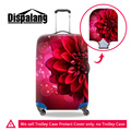 Dispalang красный цветок печати упругие камера защитная крышка для 18 до 30 дюймов тележка чемодан милые цветочные аксессуары для путешествия