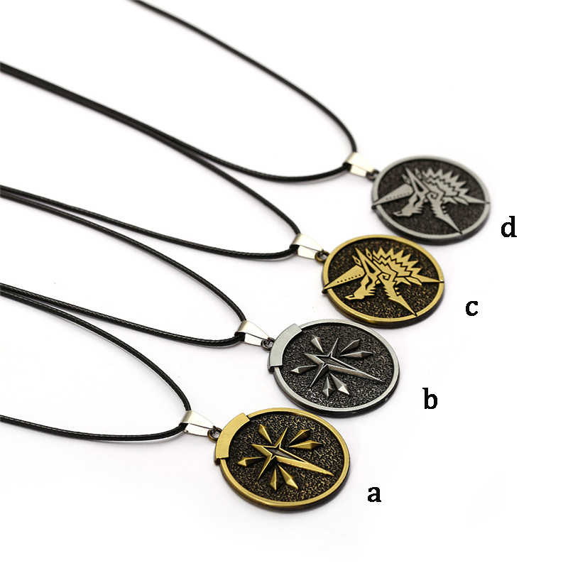New Game Online Monster Hunter World Necklace MHW Rape Chain World Guild  Zinogre Pendant Necklaces For Men Women Jewelry