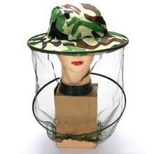 Камуфляжная шляпа для рыбалки пчеловодческий насекомый москитная сетка, защита от москитных сеток, сетчатая рыболовная Кепка, наружная Солнцезащитная Крышка для головы с одиночной шеей