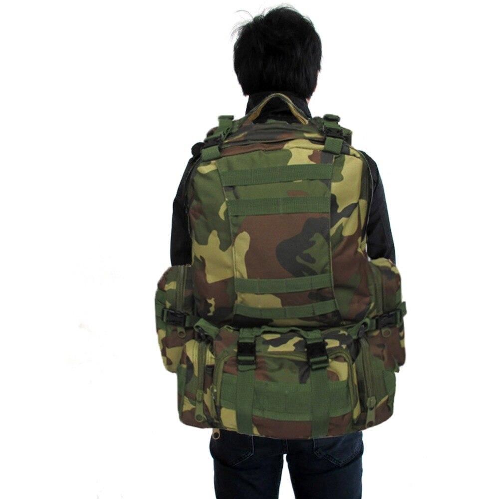50L Molle D'assaut sac tactique En Plein Air Armée Militaire À Dos sac à dos sac de camping de Voyage de Grande Capacité Randonnée sac à Dos