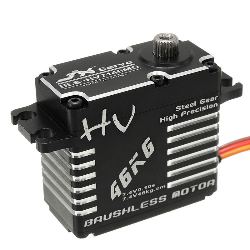 High Quality JX BLS 12V7146 46KG 12V 180 Degrees HV Steel Gear Digital Brushless Servo For
