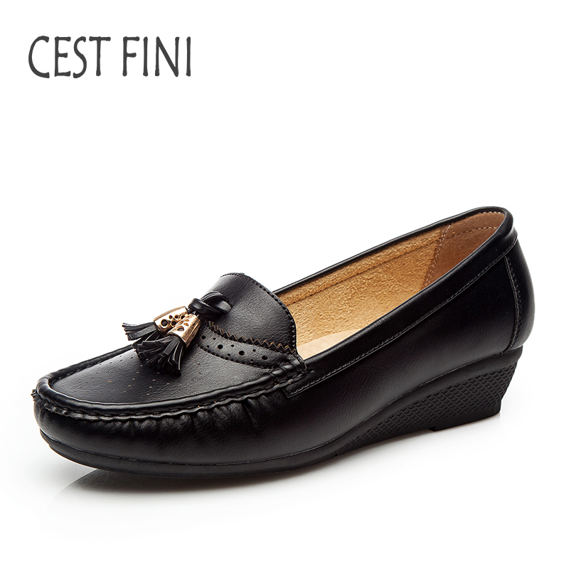 CESTFINI Women Shoes Brand Women Flats Spring&Autumn Women Leather Shoes Fashion Soft Leather Ladies Shoes #F007 beyarne rivets decoration brand shoes flats women spring autumn fashion womens flats boat shoes sexy ladies plus size 11
