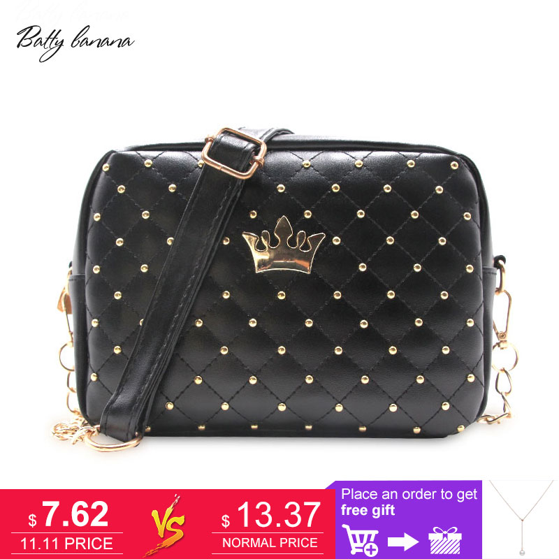 Fashion Crossbody Bags For Women Rivet Chain Shoulder Bag Female Women Messenger Bag Small Crossbody Bags High Quality Handbag high quality crossbody bag fashion women leather handbag crossbody shoulder messenger phone coin bag dropshipping ma25