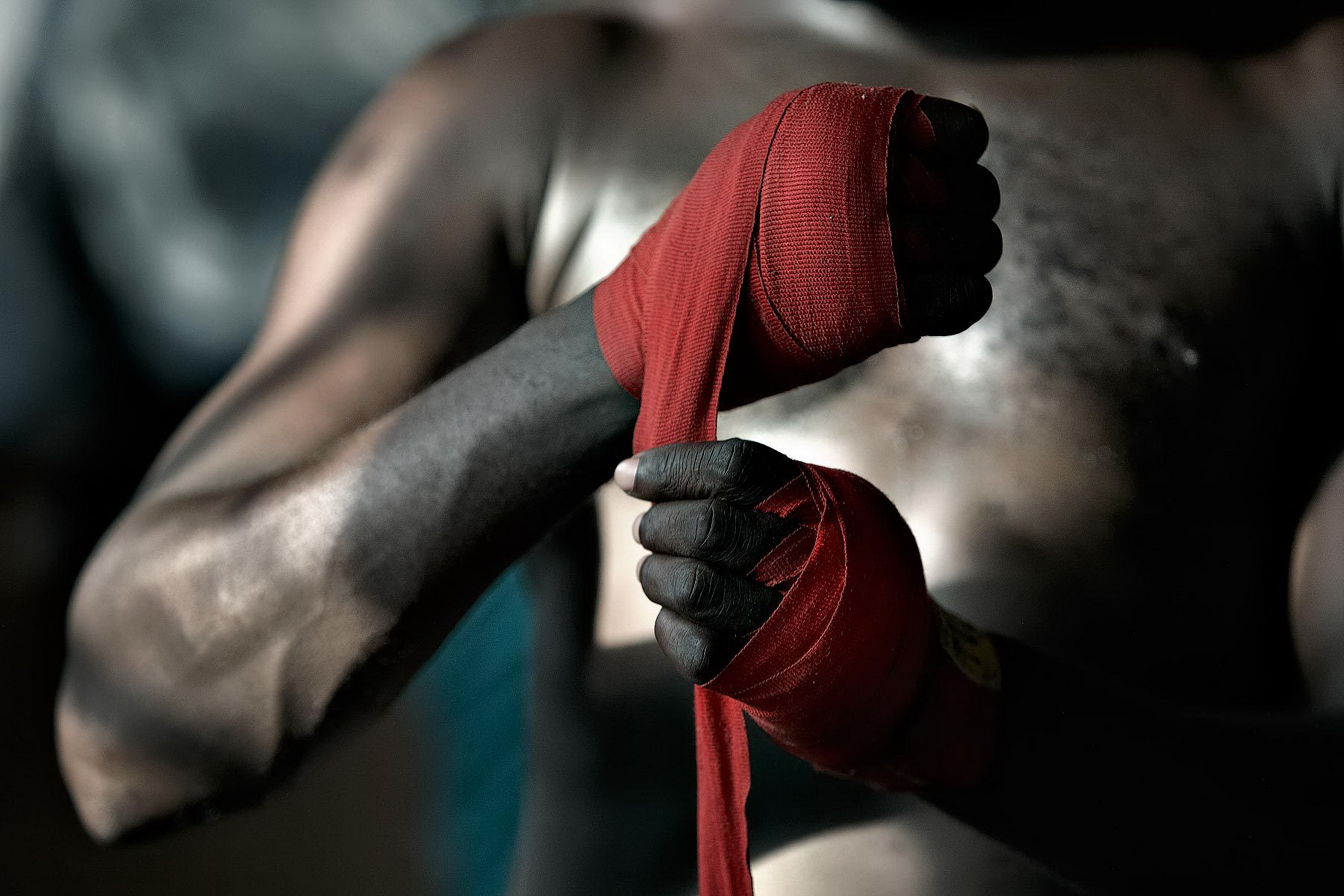 Boxing wallpaper prepare to fight fist Living room home ...