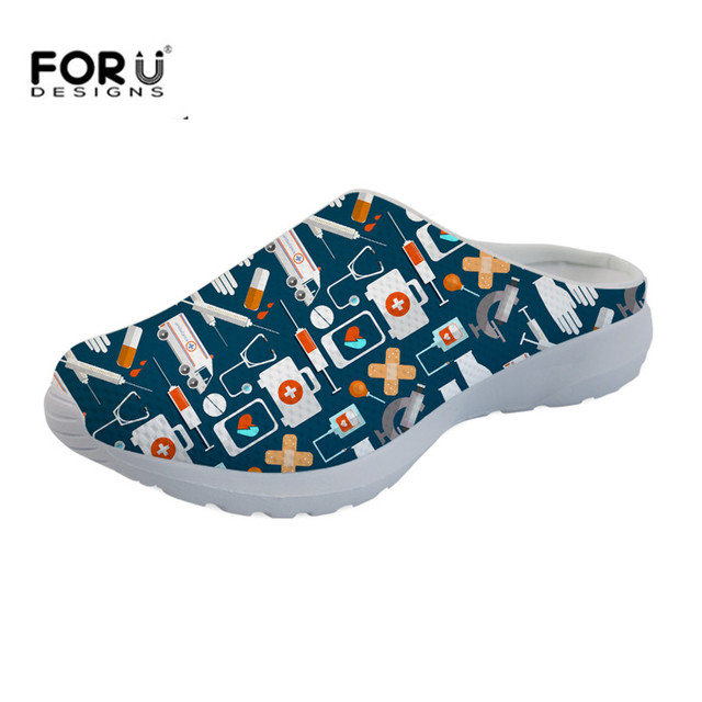 4f6da66a451a22 FORUDESIGNS-Slip-On-Sandals -for-Women-Cute-Cartoon-Doctor-Nurse-Print-Breathable-Mesh-Slippers-Female-Girls.jpg 640x640.jpg