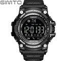 Gimto digital homens relógio cronógrafo eletrônico à prova d' água led relógios militares dos homens do esporte pedômetro bluetooth smart watch relogio