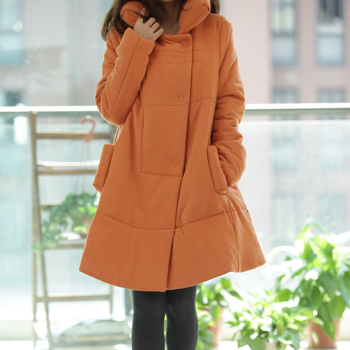 Jacket pregnant women  2017 new style fashion casual pure winter warm hats long section pregnant women jacket