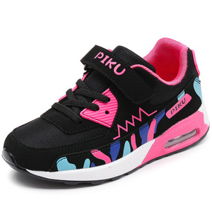 Image 3 - Sports Running Shoes Kids Girls Sneakers Teenager Trainers Breathable Casual Outdoor Tennis Shoes Girl Black Pink Big Size 37 38