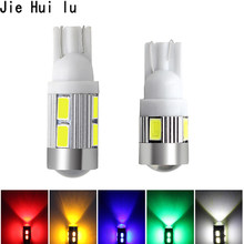 T10 W5W LED Lights 168 194 Car Wedge Side Bulbs White 6000K Auto Dome Door Map lights 5630 6SMD 10SMD 6 10 Smd Led DC12V 1Pcs(China)