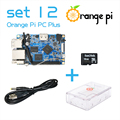 Orange Pi PC Plus SET12:  Pi PC Plus  +  Transparent  ABS Case +  Power Cable + 16GB Class 10 Micro SD Card  Beyond Raspberry