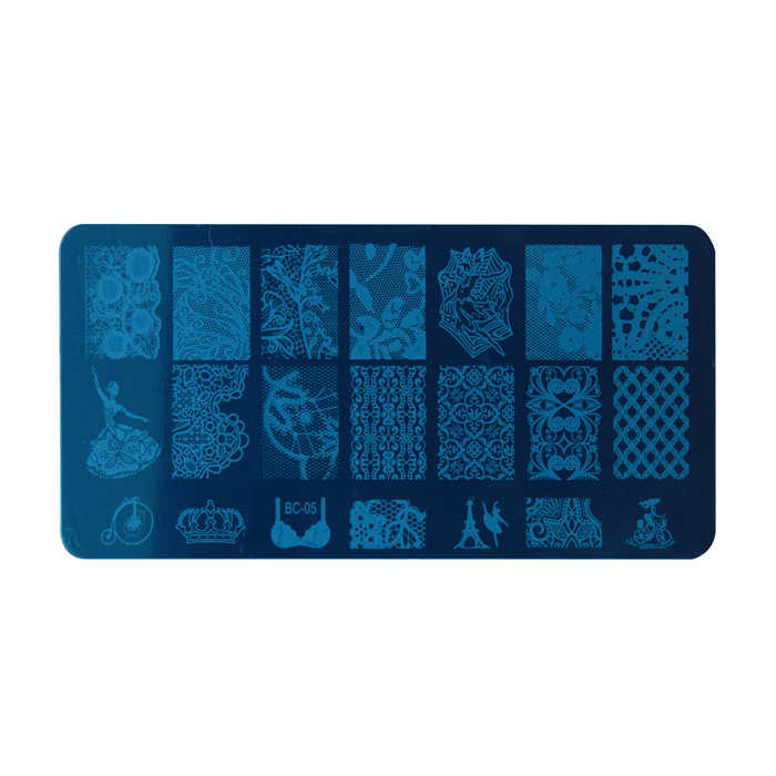 Nouveau Design de dentelle plaques d'estampillage d'ongle Art d'ongle Image d'estampillage d'ongle plaques d'art d'ongle modèle de manucure outil d'ongle
