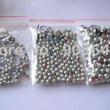 100 шт./лот, Кристальные шарики из драгоценного камня, сменные ювелирные изделия для пирсинга