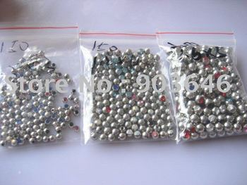 Free shippment 100pcs/lot Crystal Gems Ball Replacement Body piercing jewelry HOT