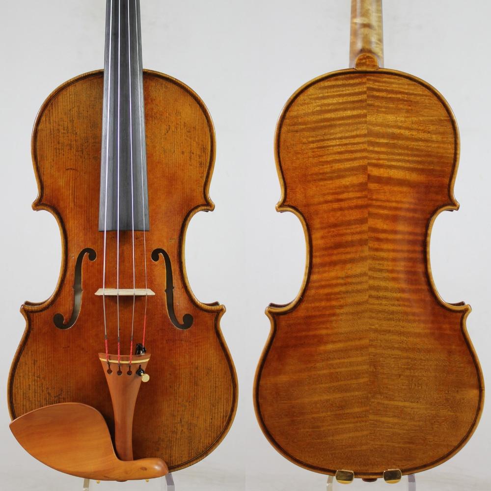 US $359 0 |Andrea Amati 1560 Violin Copy! ! Antique Oil Varnish + Case Bow  Rosin!Free Shipping!Aubert Bridge!Fine Tone! NO:172-in Violin from Sports &