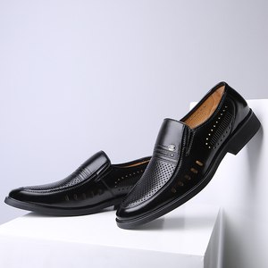Image 4 - Men Formal Shoes 2019 Summer Breathable Fashoin Mens Leather Dress Shoes Office Business Shoes for Men Father Flats