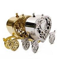 Новый золото серебро коробка для сладостей в виде кареты подарок сладости коробки День рождения Свадебные любимые украшения Рождество юби
