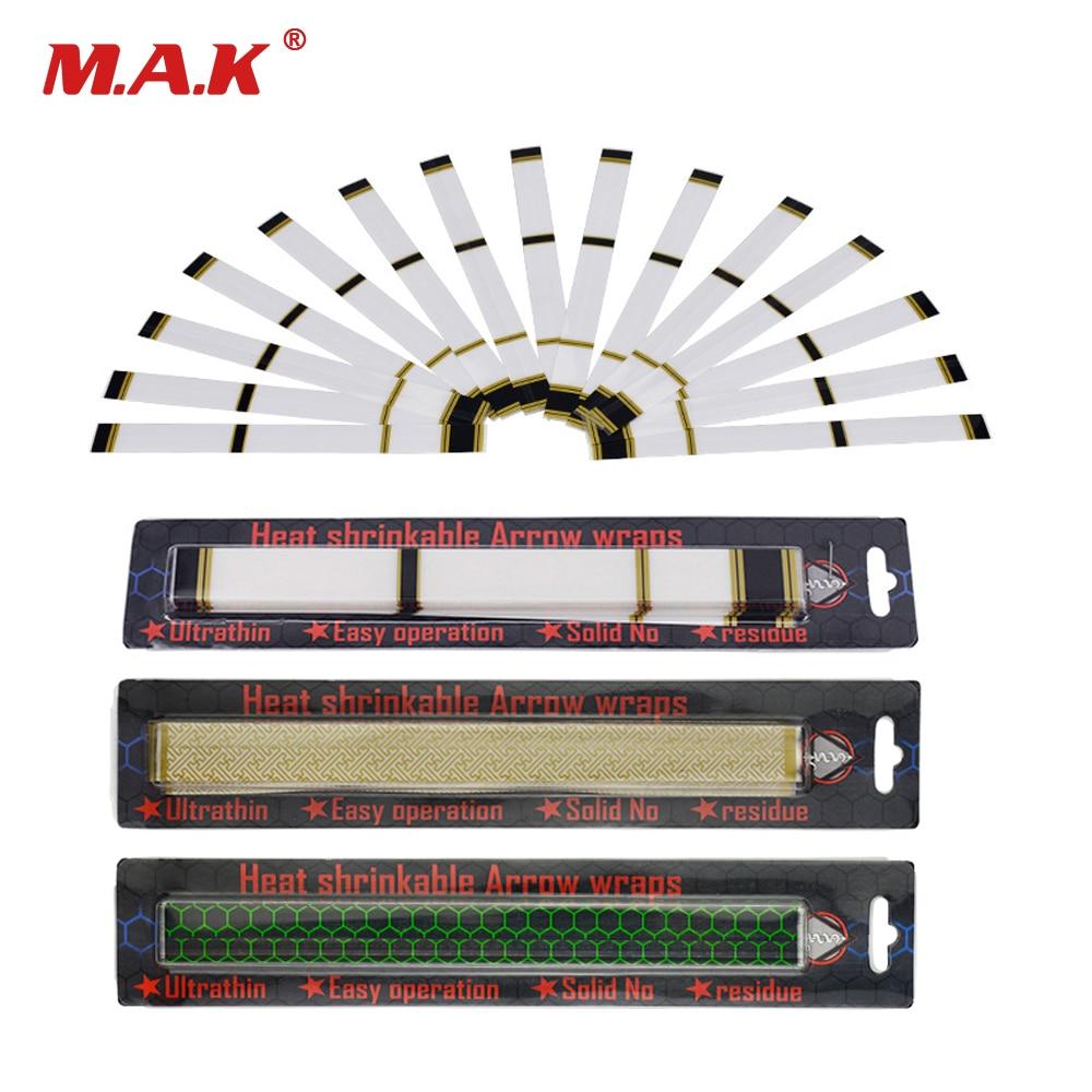 15 Pcs/set Arrow Sticker Heat Shrinkable Arrow Wraps Universal DIY Arrows For Archery Hunting Shooting