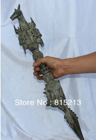 Livraison Gratuite Wang 000904 21 Vieux Tibetain Bouddhisme Rituel