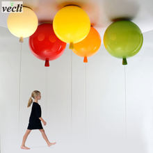 Colorful balloon ceiling light,kid child bedroom lamp baby room light,study living room kindergarten bar pub ceiling lamp 20CM(China)