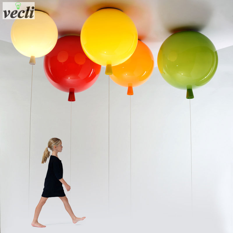 Colorful balloon ceiling light,kid child bedroom lamp baby room light,study living room kindergarten bar pub ceiling lamp 20CM