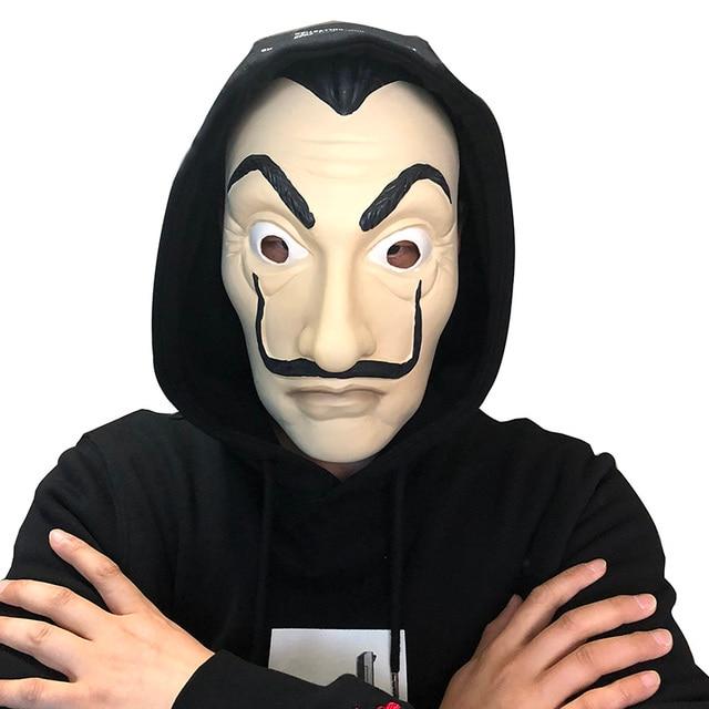la casa de papel máscaras de salvador dali rosto máscara de látex